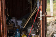 Tool shed on a construction site Stock Photography