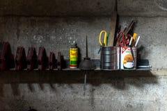 Tool shelf Stock Photography