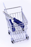 Tool in shopping cart. Isolated Stock Photo
