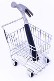Tool in shopping cart. Isolated Royalty Free Stock Photo