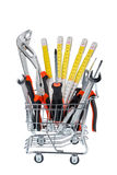 Tool in a shopping cart Stock Photography