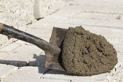 Tool  shovel   cement Stock Images