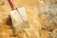 Tool shovel cement Royalty Free Stock Images