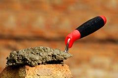 Tool  shovel  concrete Royalty Free Stock Image