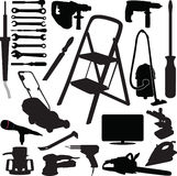 Tool silhouette vector Stock Image