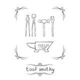 Tool Smithy Two Royalty Free Stock Images