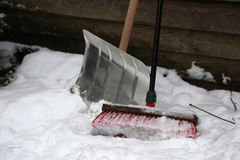 The tool for snow removal Stock Photo