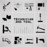 Tool and technician Stock Photos
