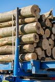 Wood loaded on a truck for transport Royalty Free Stock Photos