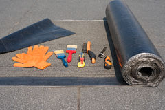 Tool for waterproofing. Royalty Free Stock Photography