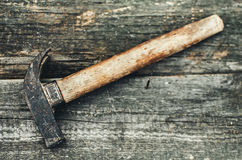 The tool on the wood Stock Photo