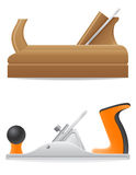 Tool wooden and  metal plane vector illustration Royalty Free Stock Image