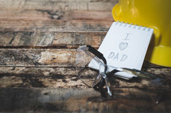 Tool with word father day Royalty Free Stock Photos