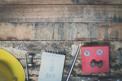 Tool with word father day Royalty Free Stock Photo