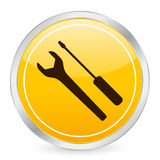 Tool yellow circle icon Royalty Free Stock Photo