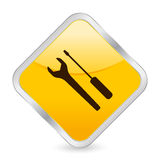 Tool yellow square icon Stock Photos