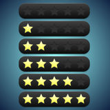 Toolbar black rating, stars recesses for them Stock Photos