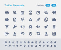 Toolbar Commands - Ants Icons Stock Photo