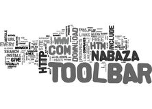 A Toolbar For Each Word Cloud Royalty Free Stock Photo