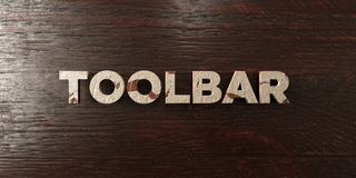 Toolbar - grungy wooden headline on Maple  - 3D rendered royalty free stock image Royalty Free Stock Photos
