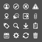 Toolbar icon set, vector eps10 Royalty Free Stock Photo