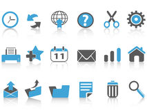 Toolbar icons set,blue series Stock Photo