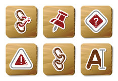 Toolbar and Interface icons | Cardboard series Stock Image