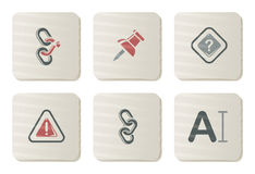 Toolbar and Interface icons | Cardboard series Royalty Free Stock Image