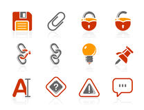 Toolbar and Interface icons | Sunshine Hotel serie Royalty Free Stock Photography