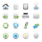 Toolbar- och Websitesymboler Arkivfoto
