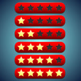 Toolbar red rating, stars recesses for them Stock Images