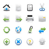 Toolbar and Website Icons Stock Photo