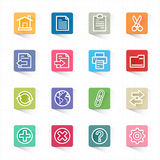 Toolbar website icons and white background Royalty Free Stock Images