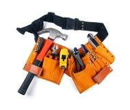 Toolbelt с различными инструментами на белизне Стоковая Фотография RF
