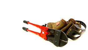 Toolbelt and bolt cutter Stock Images