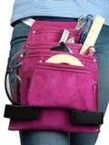 toolbelt för flickaktigt varm pink Arkivfoto