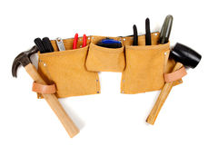 Toolbelt with tools stock photo
