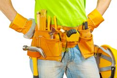 Toolbelt with tools Stock Image