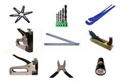 Toolbox. A set of tools isolated on white background Stock Photography