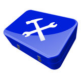 Toolbox. Illustration of a blue toolbox Stock Photos