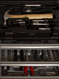 Toolbox. Professional toolbox with 'diy' tools in drawers stock images