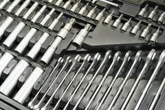 Toolbox av en mekaniker fotografering för bildbyråer