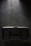 Toolbox on black background. Texture Royalty Free Stock Photos