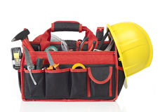 Toolbox filled with tools Royalty Free Stock Images