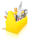 Toolbox Full av hjälpmedel Arkivfoton