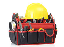 Toolbox and hardhat Royalty Free Stock Photography