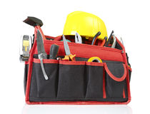 Toolbox and hardhat Royalty Free Stock Image