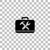 Toolbox icon flat vector illustration