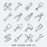 Toolbox icons set Stock Photos
