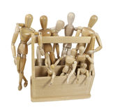 Toolbox of Inspiration. Wooden models representing persons of inspiration in a toolbox - path included Stock Photos